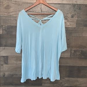 Nice Baby Blue Lane Bryant T-Shirt Stylish Back
